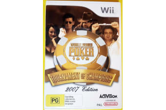 World Series of Poker Nintendo Wii GAME GREAT CONDITION