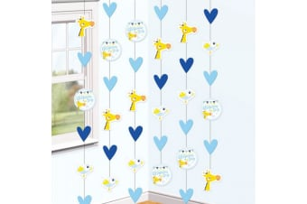 Amscan On Your Christening Day Blue Hanging String Decorations (Pink) (One Size)
