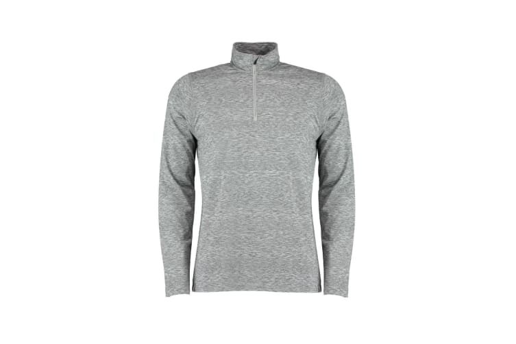 Rhino Mens Hyper Mid Layer Zip Skin Performance Top (Grey Heather) (L)