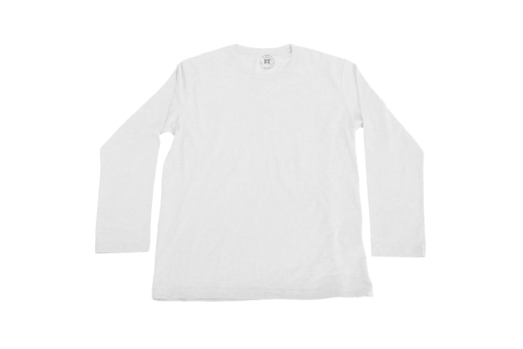Russell Older Boys Long Sleeve HD T-Shirt (White) (13-14 Years)