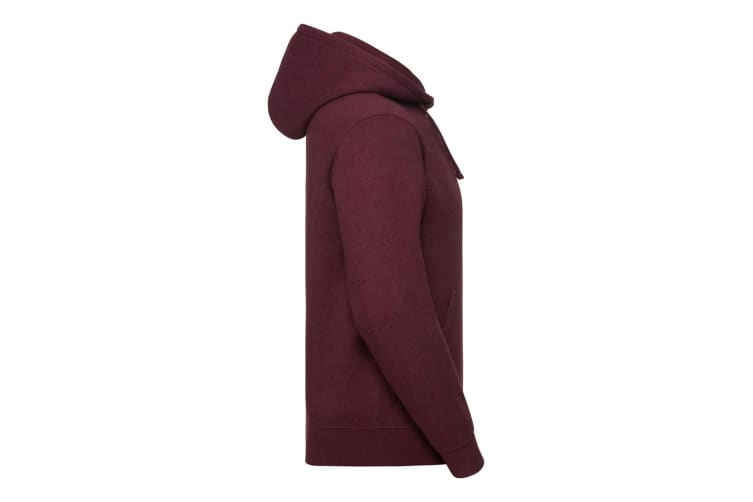 Russell Mens Authentic Melange Hoodie (Burgundy Melange) (M)