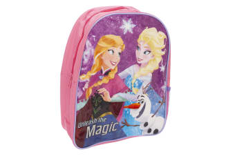 Frozen Childrens Girls Anna And Elsa Character Backpack (Pink) (One Size)