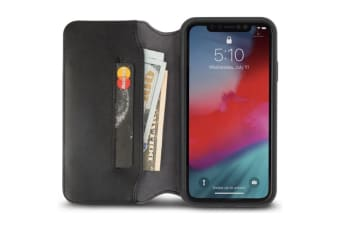 Moshi Overture Premium Wallet Case for iPhone XR - Black
