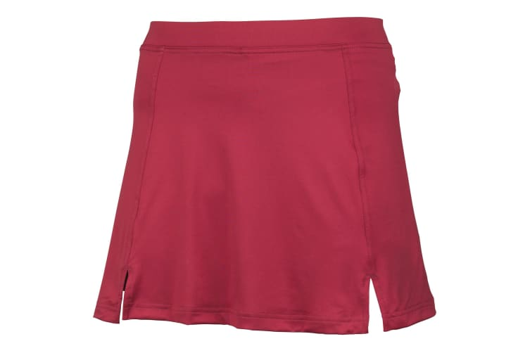 Rhino Womens/Ladies Sports Performance Skort (Tennis  Netball  Hockey & Lacrosse) (Maroon) (L)