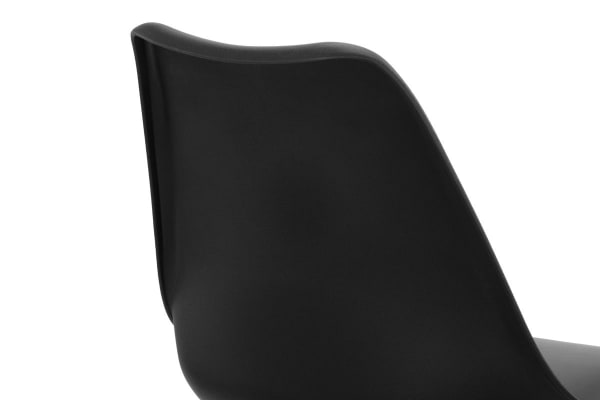 Shangri-La Set of 6 Ester Dining Chairs (Black)