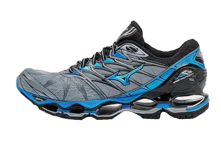 Mizuno Men's WAVE PROPHECY 7 Running Shoe (Tradewinds/Diva Blue/Black, Size 8.5 US)