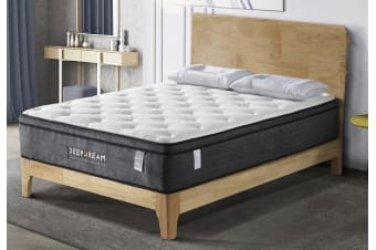 Euro Top Mattress Latex 5 Zone Pocket Spring Foam 34cm - King Single