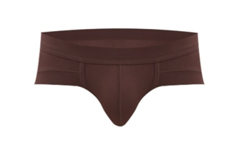 Sexy Men'S Underwear Triangle Breathable Low Waist Brief Coffee L