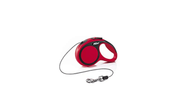 Flexi New Comfort Cord Retractable Dog Lead (Red) (S (5m))