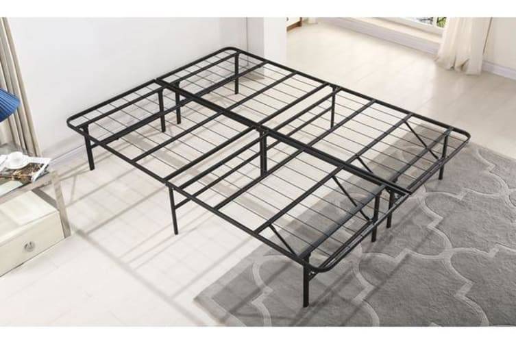 NEW Folding Stylish Metal Bed Frame Double