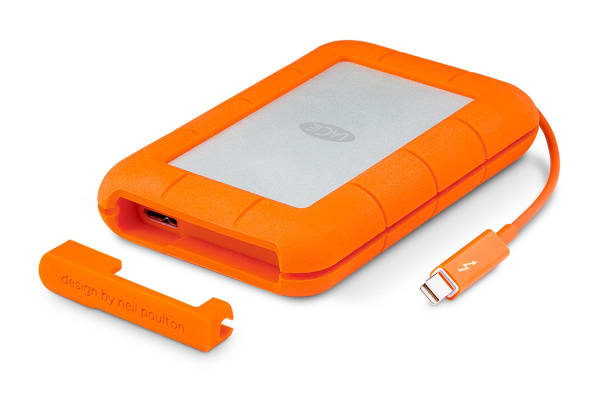 LaCie Rugged Thunderbolt Drop Resistant 1TB USB 3.0 Hard Drive