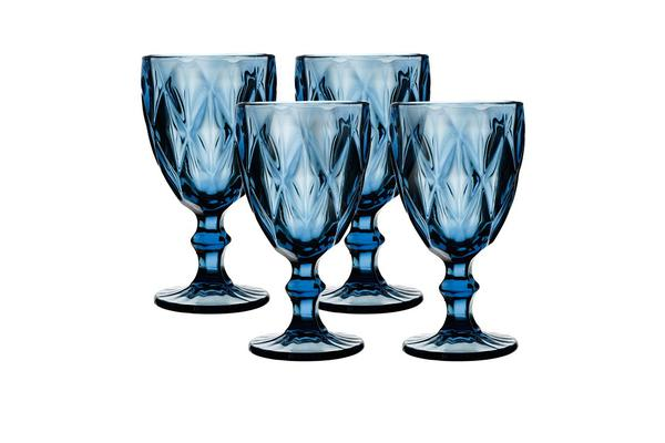 Salt & Pepper Camden Wine Glass 320ml Set of 4 Indigo