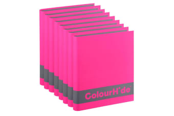 8PK ColourHide A4 200 Sheets Silky Touch Ring Binder/Folder Paper Organiser Pink