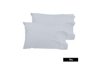 Pair of Queen Sized Pillowcases - Sky by Grand Aterlier