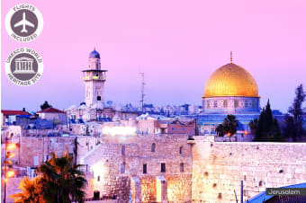 ISRAEL: 10 Day Israel Tour Including Flights for Two