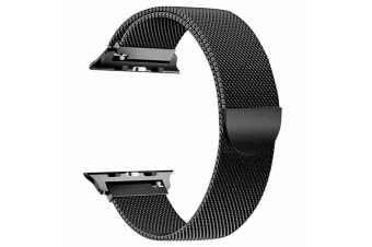 [Apple watch]Series 5 4 3 2 1 Milanese Magnetic Stainless Loop Strap Band 42mm/44mm iwatch-Black