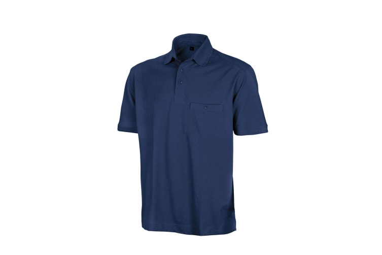 Result Mens Work-Guard Apex Short Sleeve Polo Shirt (Navy) (5XL)