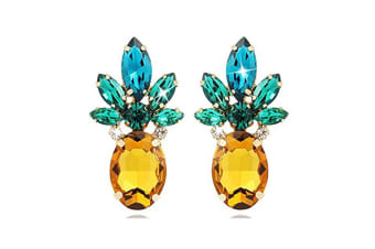 Vibrant Color Pineapple Earrings Jewelry with Crystal& Glass Beads P000046