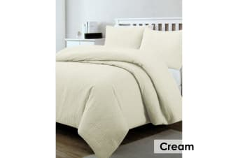 Regal Quilted Quilt Cover Set Cream