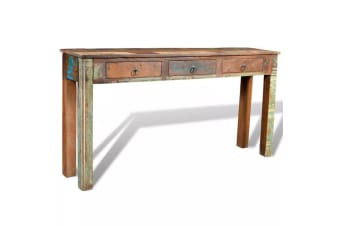 vidaXL Console Table with 3 Drawers Reclaimed Wood