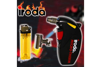 IRODA MICRO THERM FLAMELESS HEAT SHRINK GUN GAS HOT DUAL BATTERY CABLE NEW MJ600