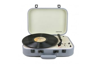 CROSLEY COUPE - BLUETOOTH TURNTABLE WITH PITCH CONTROL grey w/ Auxiliary port Built-in mono Speaker