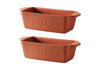 2PK Mason Cash Terracotta 34cm Bread Form Tray Toast Loaf Cake Pastry Oven Safe
