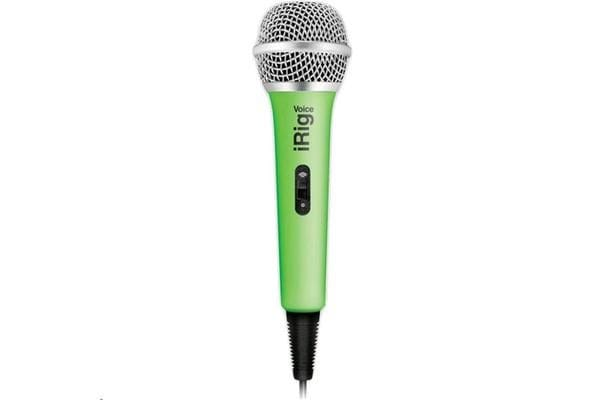 IK Multimedia iRig Voice iOS/Android Handheld Microphone (Green) Compatible with iPhone