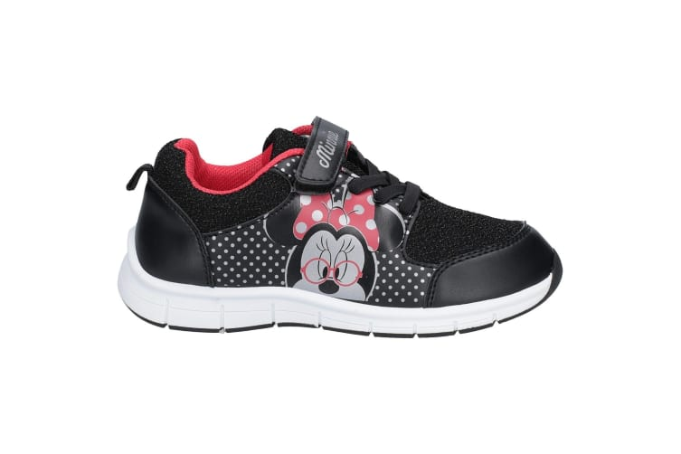 Leomil Girls Minnie Mouse Trainer (Black/White/Red) (11.5 Child UK)
