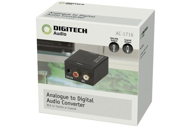 Digitech Analogue to Digital Audio Converter Toslink Coaxial Output RCA Stereo