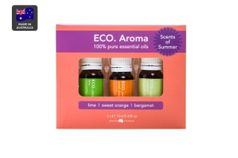 ECO. Aroma Scents of Summer Essential Oil Trio (Bergamot, Lime & Sweet Orange)