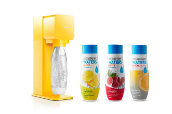 SodaStream Play Sparkling Water Maker (Yellow) With Free Flavours