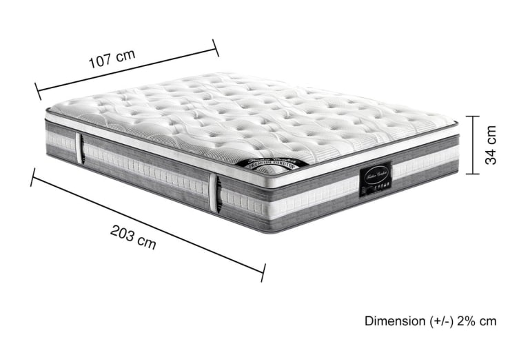 Premium Knitted Euro Top Foam Pocket Spring Mattress (King Single)