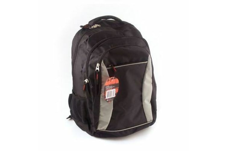 Waterproof Mens Womens Backpack School Bag Travel Satchel Bag Black / Grey