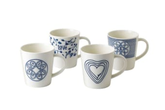 Royal Doulton Ellen DeGeneres Blue Love Accents Mug 475ml Set of 4