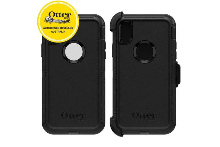 new product 52f53 45eea Otterbox Defender Case for iPhone X/Xs - Black