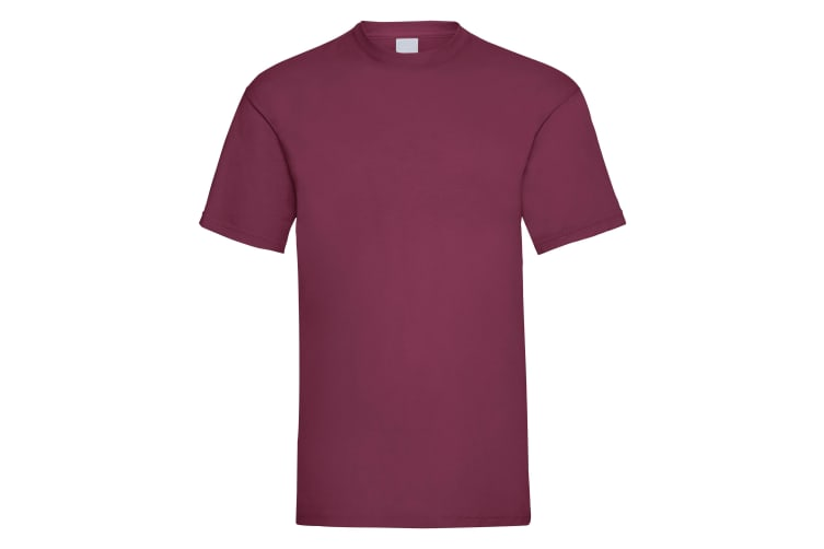 Mens Value Short Sleeve Casual T-Shirt (Oxblood) (Large)