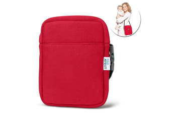 Avent Neoprene ThermaBag Warmer Baby Bottle Insulated/Thermo Bag Hot/Cold Red