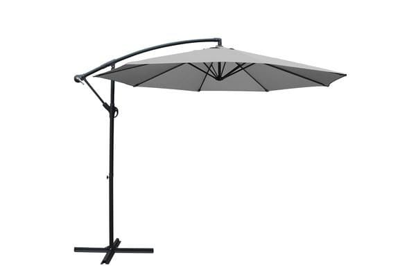 Instahut 3M Garden Umbrella Outdoor Furniture Cantilever Shade Deck Patio Green