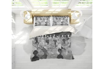 3D Band Radiohead Quilt Cover Set Bedding Set Pillowcases 69-Queen