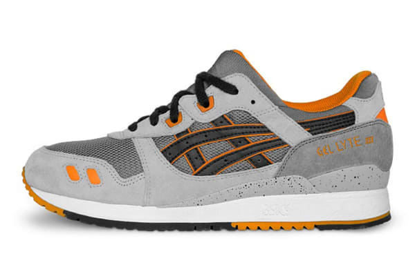 ASICS Tiger Men's Gel-Lyte III Running Shoe (Grey/Black, Size 9.5)