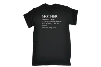 123T Funny Tee - Mother Noun - (Small Black Mens T Shirt)