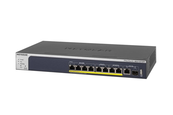 Netgear 8-Port PoE+ Multi-Gigabit Smart Managed Pro Switch with 10G Uplinks (MS510TXPP-100AJS)