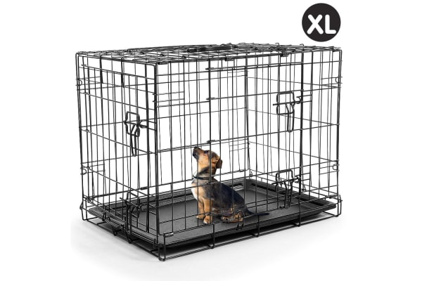 Foldable Steel Pet Cage Crate Kennel House - 42in