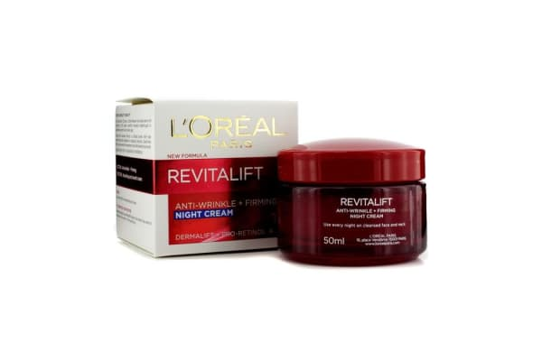 L'Oreal Dermo-Expertise RevitaLift Anti-Wrinkle + Firming Night Cream (New Formula) (50ml/1.7oz)
