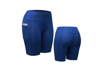 Women Performance Compression Shorts with Pocket L