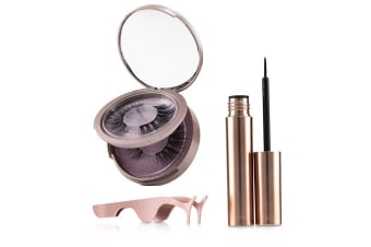 SHIBELLA Cosmetics Magnetic Eyeliner & Eyelash Kit - # Attraction 3pcs