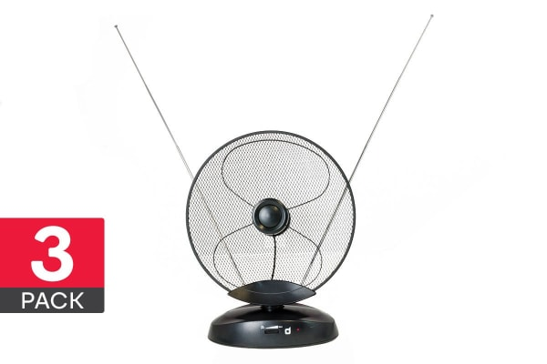 3 Pack Dick Smith Amplified Indoor Mesh Dish Antenna