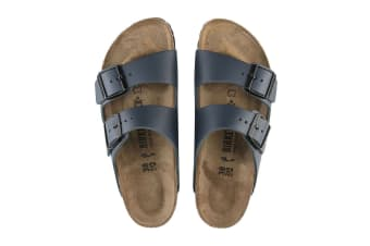 Birkenstock Unisex Arizona Smooth Leather Sandal (Navy)