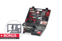 Certa 81 Piece Metric Tool Set Including Carry Case with Bonus Certa Stainless Steel Multi-Tool Card